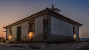 Leuchtturm über dem Meer und die Küste von Galizien stockfoto