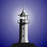Leuchtturm stock abbildung
