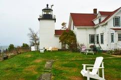 Leuchtturm am Acadia-Nationalpark, Maine Lizenzfreie Stockbilder