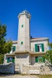 Leuchtturm, adriatisches Meer, Kroatien Lizenzfreies Stockbild