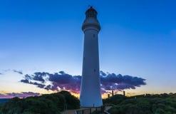 Leuchtturm an Aireys-Einlass während des Sonnenuntergangs Stockfoto