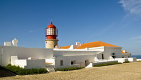 Leuchtturm, Algarve, Portugal Stockfotografie
