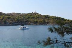 Leuchtturm auf adriatischer Insel von Lastovo, Kroatien Lizenzfreie Stockfotografie
