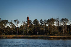 Leuchtturm auf Assateague-Insel Stockfotos