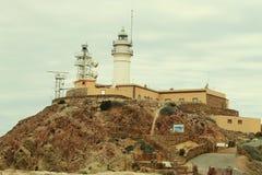 Leuchtturm auf Cabo De Gata Stockfoto