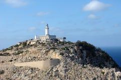 Leuchtturm auf Cap de Formentor Stockfotos