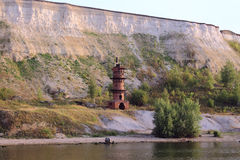 Leuchtturm auf dem Fluss Stockfotos