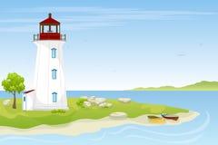 Leuchtturm auf dem Meer vektor abbildung