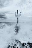 Leuchtturm auf dem Pier Lizenzfreies Stockfoto