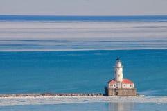 Leuchtturm auf dem See Lizenzfreie Stockfotografie