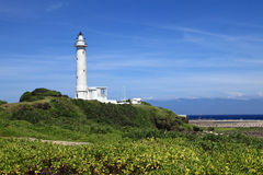 Leuchtturm auf der grünen Insel, Taiwan Stockbild