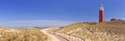 Leuchtturm auf der Insel von Texel in den Niederlanden Lizenzfreie Stockfotografie