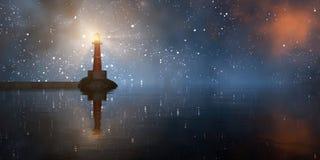Leuchtturm auf der Küste Stockfotografie