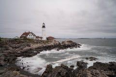 Leuchtturm auf der Neu-England Küste stockbilder