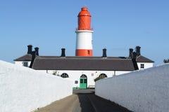 Leuchtturm auf der Nordostküste Stockfotos
