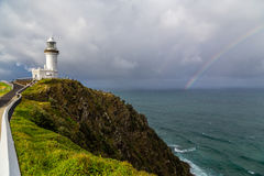 Leuchtturm auf einem Pier in Australien Lizenzfreie Stockfotografie