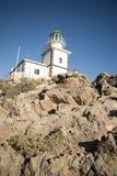 Leuchtturm auf einer Klippe Lizenzfreie Stockfotografie