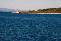 Leuchtturm auf Hvar-Insel Stockbild