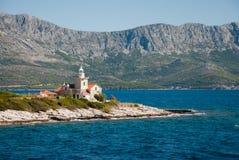 Leuchtturm auf Hvar-Insel Lizenzfreie Stockfotos