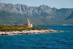 Leuchtturm auf Hvar-Insel Stockfotografie