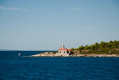Leuchtturm auf Hvar-Insel Stockbilder
