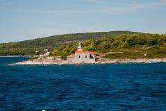 Leuchtturm auf Hvar-Insel Lizenzfreies Stockfoto