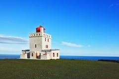 Leuchtturm auf Island Stockbild