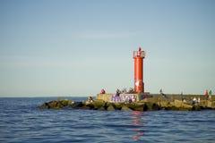 Leuchtturm auf Küste Lizenzfreies Stockbild