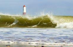 Leuchtturm auf Pier Lizenzfreie Stockfotos