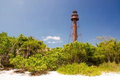 Leuchtturm auf Sanibel-Insel Lizenzfreie Stockfotografie