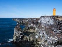 Leuchtturm auf Snaefellnes-Halbinsel Island lizenzfreie stockfotos
