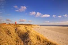 Leuchtturm auf Texel-Insel in den Niederlanden lizenzfreie stockfotografie