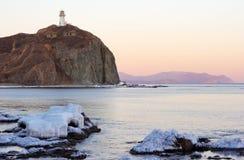 Leuchtturm auf Umhang Brinera-4 stockfoto