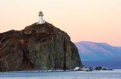 Leuchtturm auf Umhang Brinera. Lizenzfreie Stockbilder
