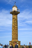 Leuchtturm auf Whitby-Pier Lizenzfreies Stockfoto