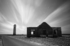Leuchtturm B&W Stockfoto