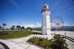 Leuchtturm in Batumi, Georgia stockbild