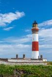 Leuchtturm bei Boddam Großbritannien Schottland Stockbild