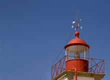 Leuchtturm bei Cabo Carvoeiro, Algarve, Portugal Lizenzfreies Stockbild