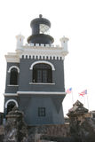 Leuchtturm bei Castillo San Felipe del Morro Stockfotografie