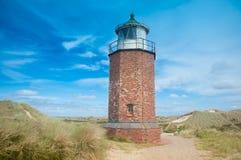 Leuchtturm bei Kampen stockfotografie