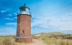 Leuchtturm bei Kampen Stockfoto