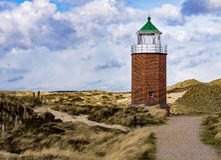 Leuchtturm bei Kampen Stockbilder