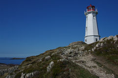 Leuchtturm bei Louisbourg Lizenzfreies Stockfoto