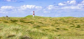 Leuchtturm bei Sylt in Deutschland Stockbild