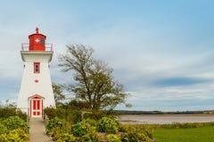Leuchtturm bei Victoria stockbild