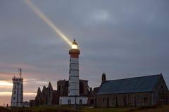 Leuchtturm belichtet Lizenzfreies Stockbild