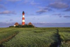 Leuchtturm-blaue Himmel Stockfoto