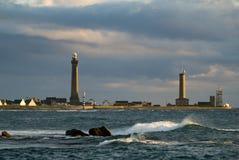 Leuchtturm in Bretagne Stockfoto