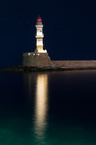 Leuchtturm in Chania, Kreta, Griechenland Stockbild